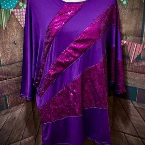 Tops - Pretty Purple Sequin Top